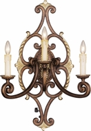 Livex 8863-64 Seville Traditional Palacial Bronze with Gilded Accents Wall Sconce