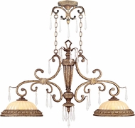 Livex 8882-65 La Bella Traditional Hand Painted Vintage Gold Leaf Kitchen Island Lighting