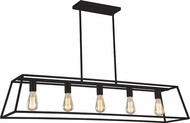 Matteo C57015RB Candor Contemporary Rusty Black Island Lighting