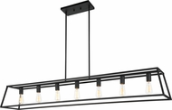 Matteo C57017RB Candor Modern Rusty Black Kitchen Island Lighting