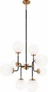 Matteo C58208AGOP Particles Modern Aged Gold Brass Chandelier Lamp