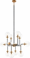 Matteo C58212AGCL Particles Contemporary Aged Gold Brass Hanging Chandelier