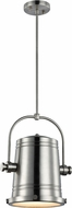 Matteo C58811BN Secchio Contemporary Brushed Nickel LED Hanging Light Fixture