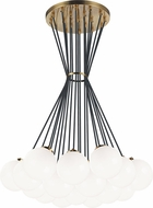 Matteo C63019AGOP The Bougie Contemporary Aged Gold Brass Multi Pendant Lighting
