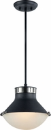 Matteo C66302MBBN Notting Contemporary Matte Black & Brushed Nickel Mini Ceiling Light Pendant