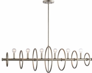 Matteo C67406SV Hoopa Contemporary Rusty Silver Kitchen Island Light