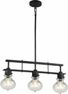 Matteo C67903SB Coalmar Contemporary Silver Black Kitchen Island Light Fixture