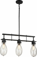 Matteo C67913SB Coalmar Modern Silver Black Kitchen Island Lighting
