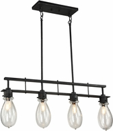 Matteo C67914SB Coalmar Contemporary Silver Black Kitchen Island Light