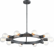 Matteo C73310SB Marquis Contemporary Silver Black 24.17  Chandelier Light