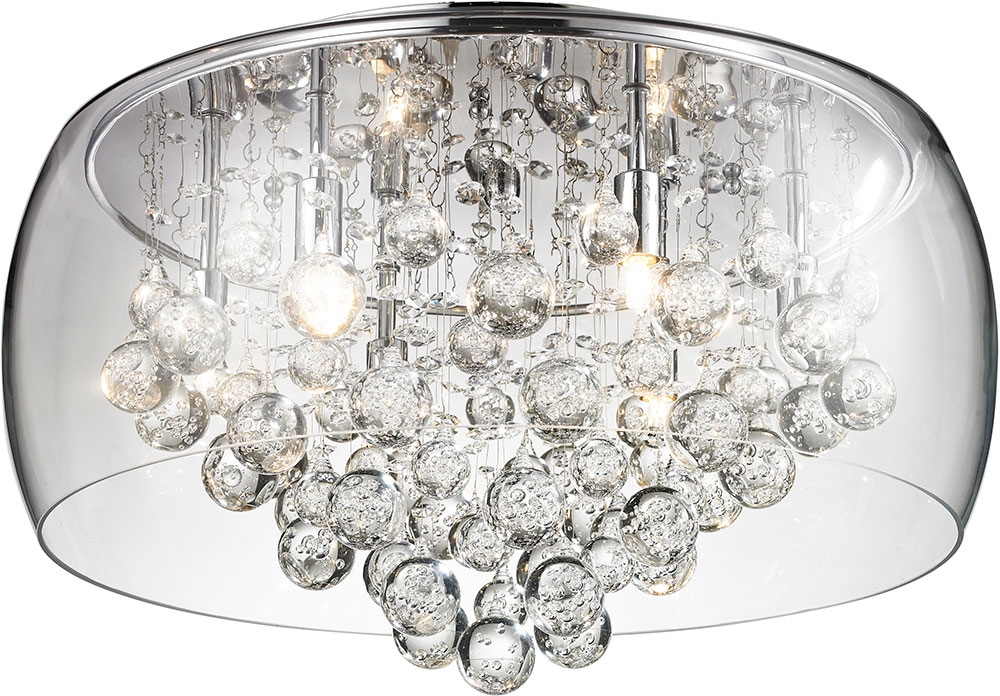 Matteo m31004 glass encased bubble droplet contemporary chrome matteo m31004 glass encased bubble droplet contemporary chrome halogen 16nbsp ceiling light loading zoom mozeypictures Gallery