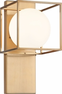 Matteo S03801AG Squircle Contemporary Aged Gold Brass Lighting Sconce