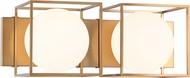 Matteo S03802AG Squircle Contemporary Aged Gold Brass 2-Light Bathroom Lighting