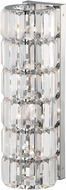 Matteo W44504CH Crystal Fiocco Chrome Halogen Wall Lamp