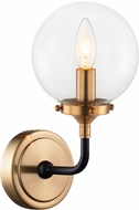 Matteo W58201AGCL Particles Contemporary Aged Gold Brass Wall Light Sconce