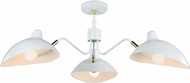 Matteo X57903WH Droid Modern White & Brushed Gold Chandelier Lamp