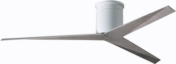 Matthews EKH-WH-BW Eliza Modern Gloss White Indoor/Outdoor 56  Home Ceiling Fan w/ Barn Wood Blades