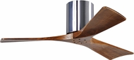 Matthews IR3H-CR-42 Irene Modern Polished Chrome Interior/Exterior 42  3 Blade Hugger-style Paddle Ceiling Fan