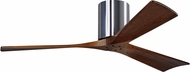Matthews IR3H-CR-52 Irene Contemporary Polished Chrome Interior/Exterior 52  3 Blade Hugger-style Paddle Ceiling Fan