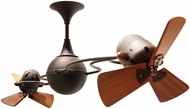 Matthews IV-BZ-WD Italo Ventania Modern Bronze 53  Rotational Home Ceiling Fan with Mahogany Blades