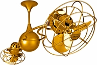 Matthews IV-GOLD-MTL Italo Ventania Modern Gold Interior/Exterior 53  Rotational Ceiling Fan with Metal Blades