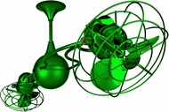 Matthews IV-GREEN-MTL Italo Ventania Modern Green Interior/Exterior 53  Rotational Ceiling Fan with Metal Blades