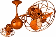 Matthews IV-ORANGE-MTL Italo Ventania Modern Orange Interior/Exterior 53  Rotational Ceiling Fan with Metal Blades