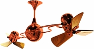 Matthews IV-ORANGE-WD Italo Ventania Contemporary Orange Interior/Exterior 53  Rotational Ceiling Fan with Mahogany Blades