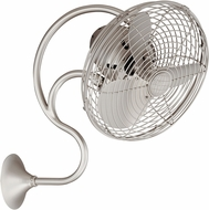 Matthews ME-BN Melody Brushed Nickel Interior/Exterior 13  Oscillating Wall Fan