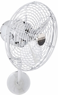 Matthews MP-CR-MTL Michelle Parede Contemporary Polished Chrome Interior/Exterior 19 Directional Wall Fan