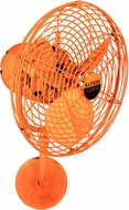 Matthews MP-ORANGE-MTL Michelle Parede Contemporary Orange Interior/Exterior 19  Directional Wall Fan