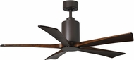 Matthews PA5-TB Patricia Modern Textured Bronze LED Walnut Tone 5 Blade Home Ceiling Fan