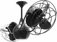 Matthews VB-BK-MTL Vent-Bettina Modern Matte Black Interior/Exterior 42  Rotational Ceiling Fan with Metal Blades