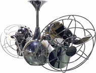 Matthews VB-BKN-MTL Vent-Bettina Contemporary Black Nickel Interior/Exterior 42  Rotational Home Ceiling Fan with Metal Blades