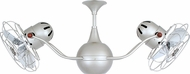 Matthews VB-BN-MTL Vent-Bettina Contemporary Brushed Nickel Interior/Exterior 42  Rotational Home Ceiling Fan with Metal Blades