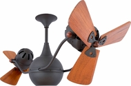 Matthews VB-BZ-WD Vent-Bettina Modern Bronze 42  Rotational Home Ceiling Fan with Mahogany Blades