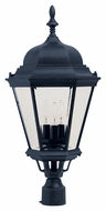 Maxim 1007BK Westlake Traditional Black 13  Wide Outdoor Lamp Post Light