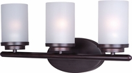 Maxim 10213FTOI Corona Oil Rubbed Bronze 3-Light Lighting For Bathroom