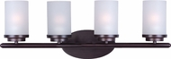 Maxim 10214FTOI Corona Oil Rubbed Bronze 4-Light Bathroom Light