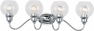 Maxim 1114CLPC Ballord Contemporary Polished Chrome 4-Light Bathroom Lighting Fixture