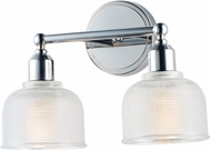 Maxim 11322CLPC Hollow Modern Polished Chrome 2-Light Vanity Light