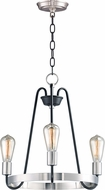 Maxim 11733BKSN Haven Contemporary Black / Satin Nickel Mini Lighting Chandelier