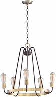 Maxim 11735OIAB Haven Modern Oil Rubbed Bronze / Antique Brass Ceiling Chandelier