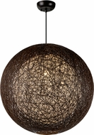 Maxim 14407CHWT Bali Contemporary Chocolate Ceiling Light Pendant