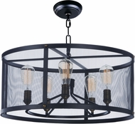 Maxim 20114BKNAB Palladium Black / Natural Aged Brass Drum Pendant Lamp