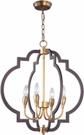 Maxim 20293OIAB Crest Oil Rubbed Bronze and Antique Brass Mini Chandelier Light