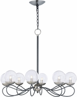 Maxim 20465BGTXBPN-BUL Reverb Contemporary Textured Black / Polished Nickel LED Chandelier Lighting