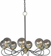Maxim 20465TBGTBZSBR-BUL Reverb Modern Textured Bronze / Satin Brass LED Lighting Chandelier