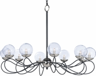 Maxim 20467BGTXBPN-BUL Reverb Contemporary Textured Black / Polished Nickel LED Chandelier Lamp