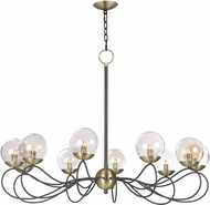 Maxim 20467TBGTBZSBR-BUL Reverb Modern Textured Bronze / Satin Brass LED Chandelier Light